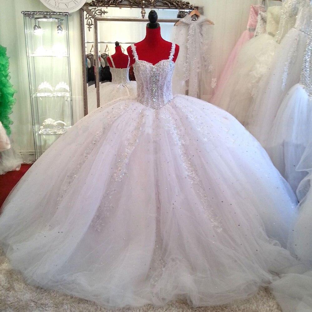 Vestido De Noiva Real Sample Russian Luxury Ball Gown Wedding Dress ...