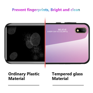Image 5 - For Honor 8S 8 S Case Gradient Tempered Glass Hard Case TPU Silicone Frame Hard Glass Back Cover for Huawei Y5 2019 Shockproof