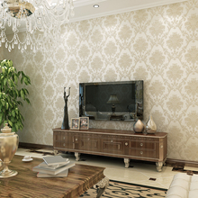 New Vintage European style wallpaper Damascus bronzing 3D stereo non-woven wall paper home decor living room bedroom office