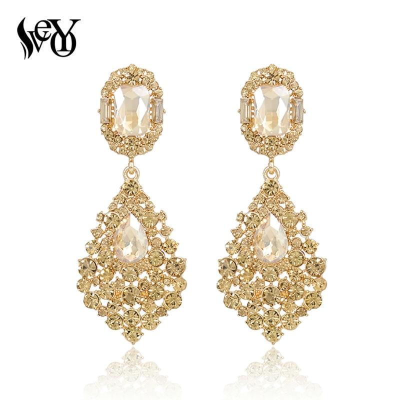 VEYO Luxury Earrings Full Of Rhinestone Crystal Drop Earrings Long Earrings For Woman High Quality
