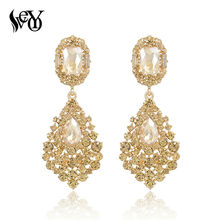 VEYO Luxury Earrings Full of Rhinestone Crystal Drop Earrings Long Earrings For Woman High Quality