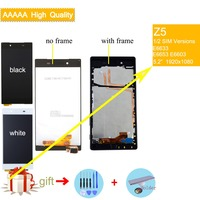 LCD Display For SONY Xperia Z5 Screen Touch with Frame Display for SONY Z5 LCD Dual E6683 E6653 original LCD Display assembly