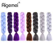 Braiding Hair Extensions High Temperature Fiber Ombre Jumbo Braids 24inch 100g/pcs Crochet Twist Afirican Hairstyle