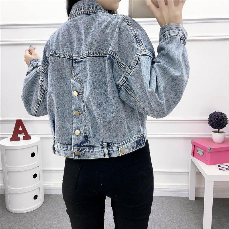 New Denim Jackets For Women 2019 Spring Vintage Short Jackets Big Pockets High Waist Single Breasted Jackets Female #6701