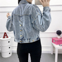 New Denim Jackets For Women 2019 Spring Vintage Short Jackets Big Pockets High Waist Single Breasted Jackets Female #6701