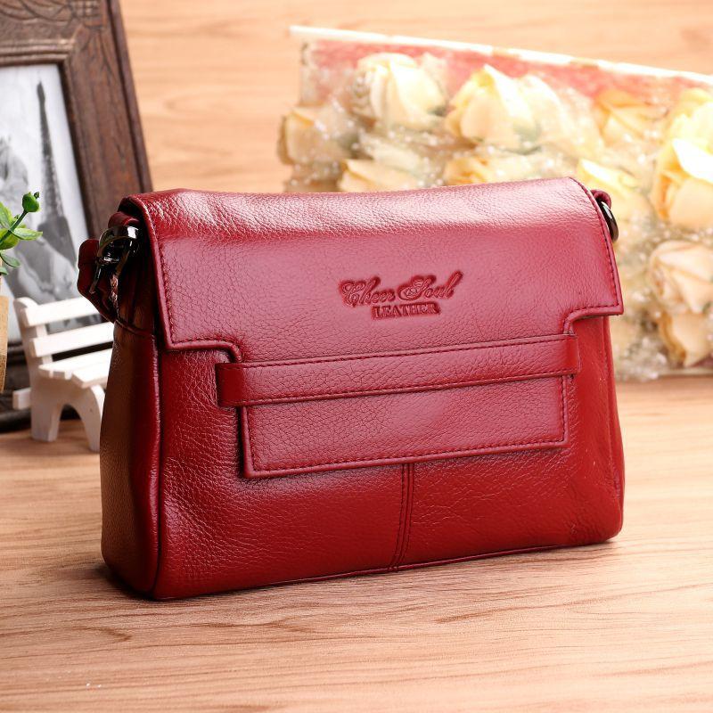 цена на Women Genuine Leather Handbags Fashion Brand Cow Leather Messenger Shoulder Bags Bolsas Feminina High Quality Phone Bag