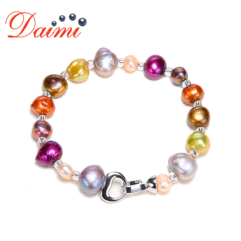 DAIMI Mixed Color  Pearl Bracelet DIY Bracelet Natural Baroque Pearl Jewelry Gift For WomenDAIMI Mixed Color  Pearl Bracelet DIY Bracelet Natural Baroque Pearl Jewelry Gift For Women