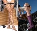 Mujeres de La Manera promoción Caliente sexy Negro Rojo Blanco grande pequeña Red de Pesca medias de encaje medias hasta el muslo meias rodilla medias LC7905