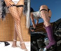 promotion Fashion Women Hot sexy Black Red White big small Fish Net lace stockings thigh highs meias knee socks LC7905