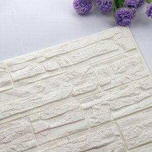 Hot Sale DIY 3D Brick PE Foam Wallpaper PE Wall stickers Panels Room Decal Stone Decoration Embossed 60x30cm Wall sticker Poster