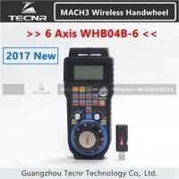 6 Axis MACH3 Wireless Handwheel CNC MPG Handwheel Manual USB Receiver 40 Meters Transmission Distance WHB04B