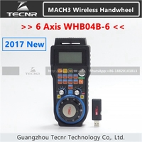 6 Axis MACH3 Wireless Handwheel CNC MPG Handwheel Manual USB Receiver 40 Meters Transmission Distance WHB04B