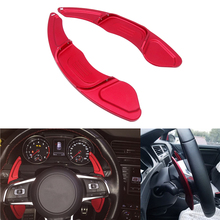For Volkswagen VW GOLF 7 2015- GTI R MK7 Scirocco Car Styling 1 Pair Red/Silver Aluminum Steering Wheel Shift Paddle