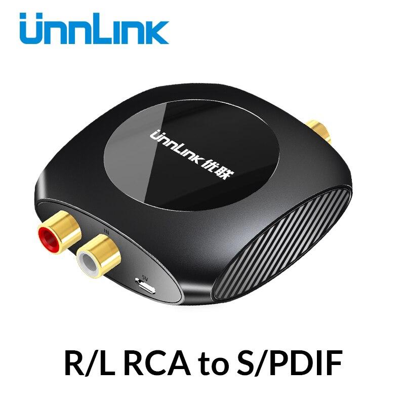 Адаптер аналогового цифрового аудио конвертер Unnlink 96 кГц R/L RCA в SPDIF, оптический коаксиальный Toslink для усилителя, саундбар, динамик|Кабели VGA| | АлиЭкспресс