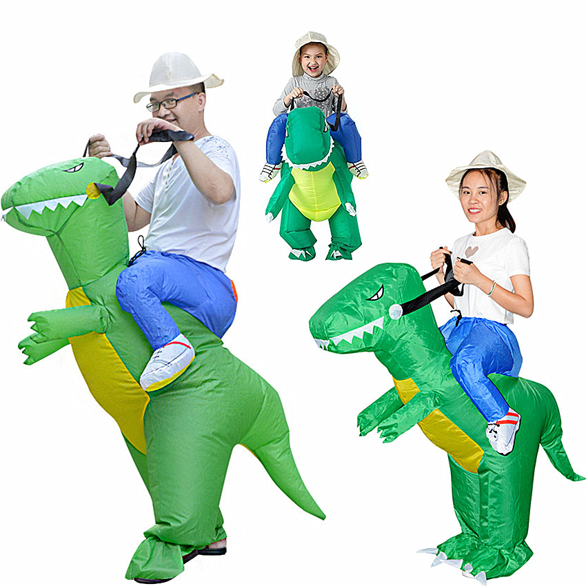 1PC Inflatable Dinosaur Costume Toy Halloween Costumes Inflatable Games Kids Outdoor Toys Funny Costumes Animal Cosplay Prop ...