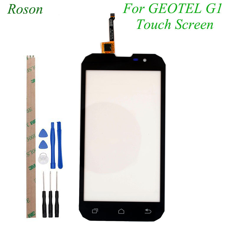 Roson for Geotel G1 Touch Screen Perfect Replacement Touch Panel TP For Geotel G1 Mobile Phone Accessories +Tools +AdhesiveRoson for Geotel G1 Touch Screen Perfect Replacement Touch Panel TP For Geotel G1 Mobile Phone Accessories +Tools +Adhesive