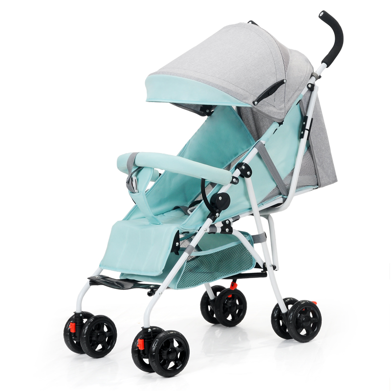 High Landscape Aluminum Alloy Unisex baby stroller light folding umbrella car can sit lie ultra-light portable For 0-3T Baby цена в Москве и Питере