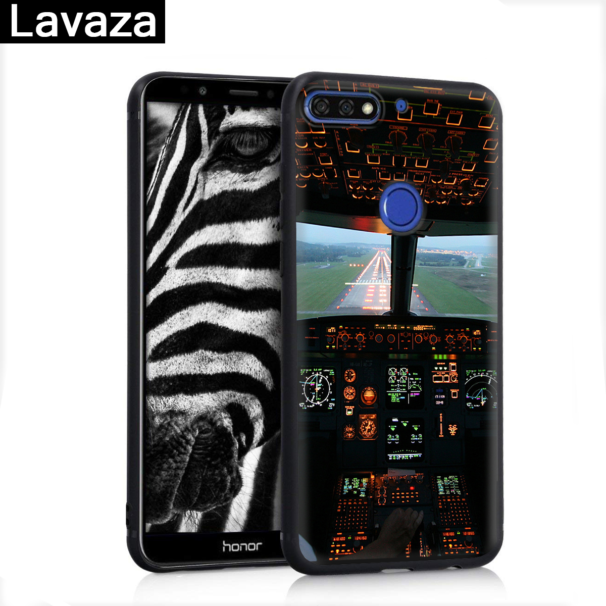 Lavaza Aircraft Airplane Cockpit Silicone Case for Huawei P8 Lite 2015 2017 P9 2016 Mini P10 P20 Pro P Smart 2019 P30 in Fitted Cases from Cellphones Telecommunications