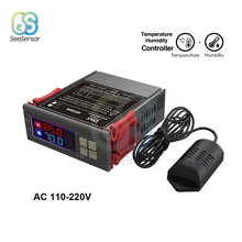 SHT2000 AC 110 220V Digitale Temperatuur Vochtigheid Controller Thuis Koelkast Thermostaat Humidistaat Thermometer Hygrometer Max 10A