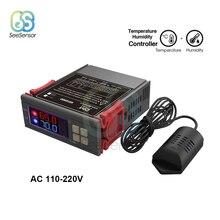 SHT2000 AC 110 220V דיגיטלי טמפרטורת לחות בקר בית מקרר טרמוסטט Humidistat מדחום מדדי לחות מקס 10A