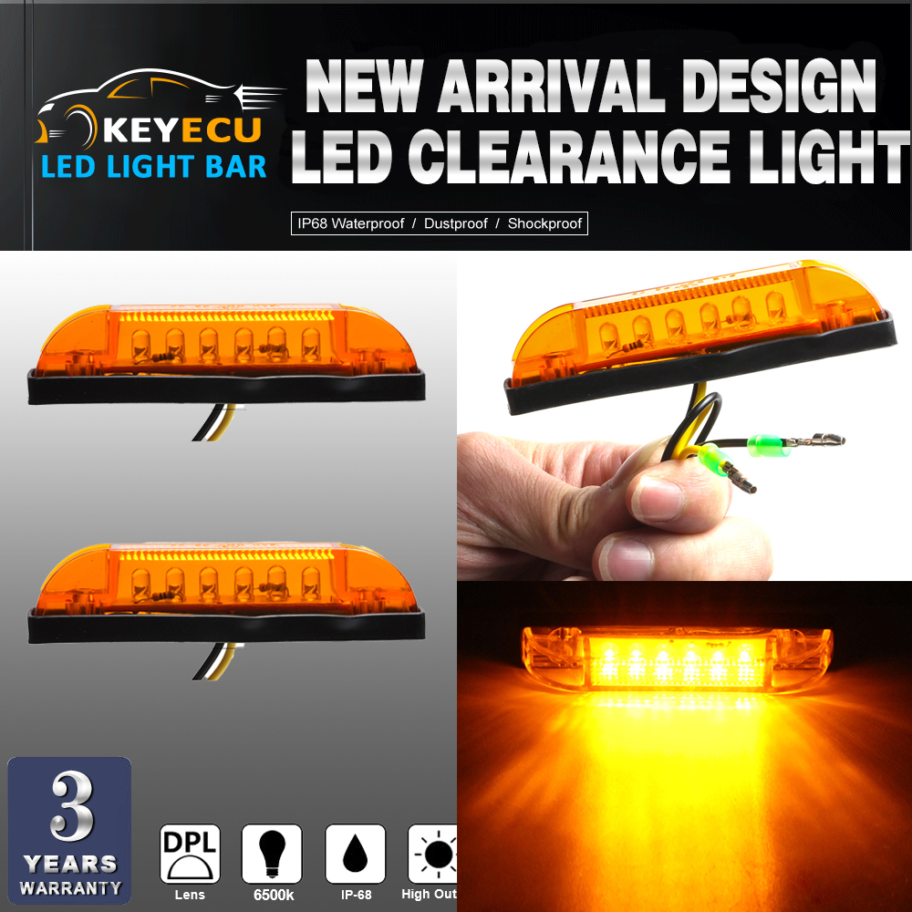 KEYECU 10X amber LED Strip Light Maker Light 4 Great Utility Light Indoor & Outdoor Lighting universal use on any application
