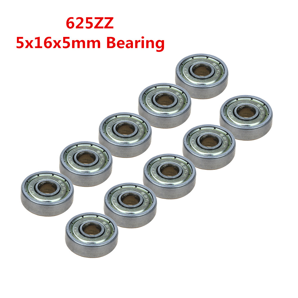 10Pcs Double Shielded Miniature High-carbon Steel Ball Bearing as 3D Printer Parts 5