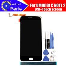 5,5 дюймов UMIDIGI C NOTE 2 ЖК дисплей + кодирующий преобразователь сенсорного экрана в сборе 100% Оригинальный Новый ЖК + сенсорный дигитайзер для C NOTE 2 + Инструменты