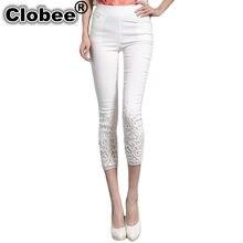 3004e971dc9 Clobee женские брюки Лето 2018 плюс размер 4XL pantalon femme узкие эластичные  брюки-карандаш кружевные