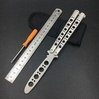 النسخة الجديدة سكين فراشة مع مفك التدريب الممارسة فراشة سكين للطي سكين balisong الفراشة في سكين