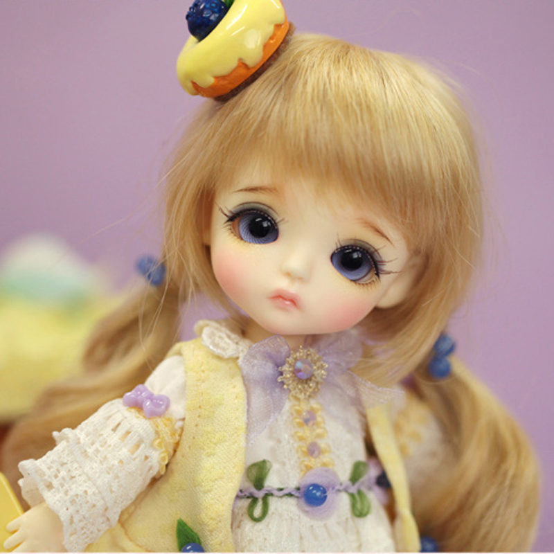 2018 New Arrival 1/8 BJD Doll BJD/SD Cute Lovely Yellow S.belle Resin Joint Doll With Eyes For Baby Girl Birthday Gift