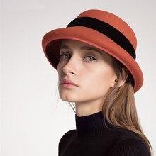 Sedancasesa clássico cloche chapéus para mulheres chapéu velejador  Austrália feltro de lã chapéu de Outono Inverno c41220cf3e2