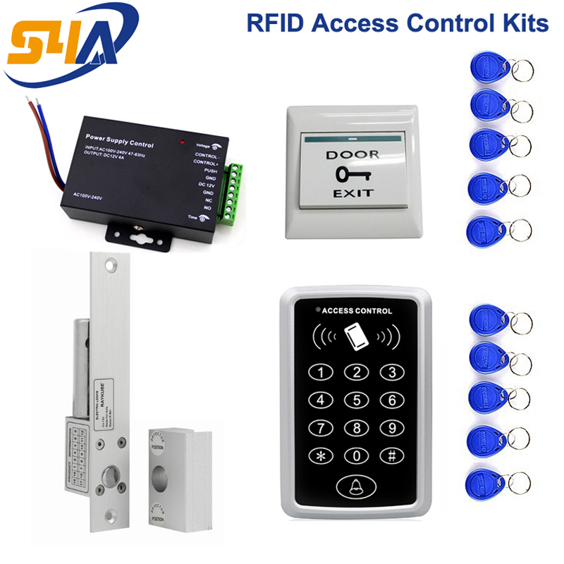 Rfid Access Control Kits For Glass Door With Electric Dropbolt Lock And Aluminum Bracket digital electric best rfid hotel electronic door lock for flat apartment