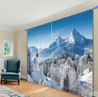 Beautiful Tree Landscape Pictures Luxury 3D Blackout Curtain Drape For Living room Bedding room Home Decor Tapestry Wall Carpet