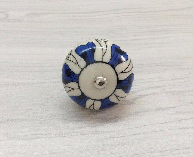 Knoppen Voor Kast : Keramische dresser knop blauw bloem kids knoppen kast trekt knoppen