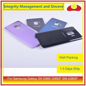 Image 2 - Оригинал для Samsung Galaxy S9 G960 G960F SM G960F корпус батарейный отсек Задняя стеклянная крышка корпус