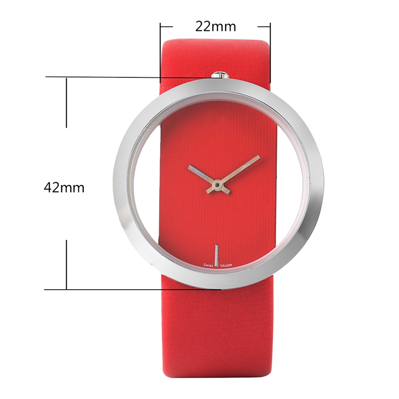 Watch Women Luxury Unique Hollow Skeleton Lady Wrist Watches Lucky Red Leather Quartz Casual Stylish Dress relogio feminino Gift HTB1h5yvIr5YBuNjSspoq6zeNFXab