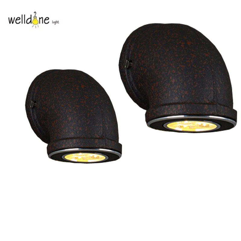 Restoring Ancient Wall Lamps LED Water Pipe Bathroom indoor Lights Wall Lamps Loft Desig ...