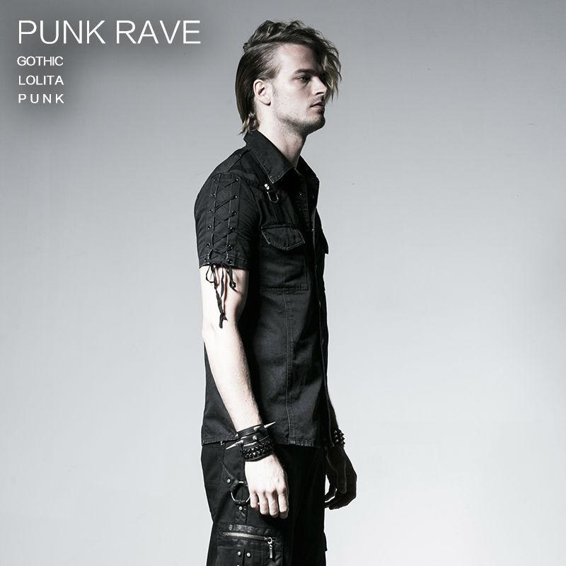 Готическая новая рок повязка черная уличная крутая футболка модная визуальная Kei Heavey металлическая Черная Мужская футболка L 3XL Панк рейв Y 530 - 3