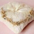 Austrian Rhinestone Headbands Flower Bouquet Hair Jewelry Wedding Bridal Vintage Hair Accessories Women Headpieces Headwear