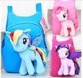 3D my little pony рюкзак для девочек Детей мешок Школы Ребенок Плюшевые Рюкзаки Детские Школьный Мультфильм Дети Ранец Mochila Infantil