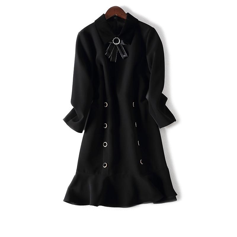 Marchandises Est Falbala Nail 3059 S Cultiver Femmes Sa Robe Chart Col Moralité Nouveau See Queue Vêtements Perle Hivers qw6EHE