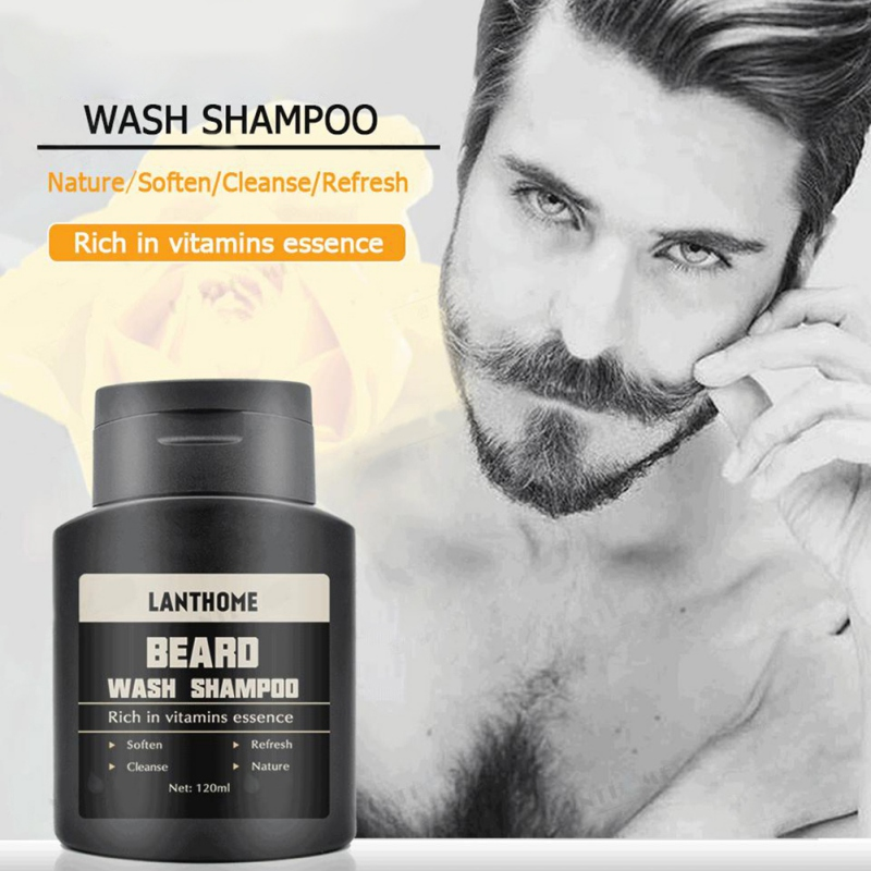 US $3.58 25% OFF|Men nourishing facial hair shampoo Facial Bear Cleanser  Deep Cleaning To Protect Hair Temples Shampoos-in Shampoos from Beauty & .