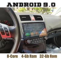 10.1IPS for honda accord 2003 2007 Octa core android 9.0 Car GPS radio player with WIFI 4G bluetooth 4+32G mirror link no dvd