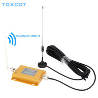 TOXCOT 3g 2100 cell phone Signal Repeater 2100 repeater Mobile 2100MHz Signal Booster Amplifier LCD Mini 70db 3G LTE WCDMA UMTS