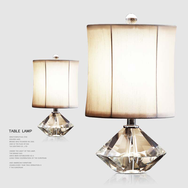 Modern Fixture Lamp Geometric Multi Faceted K9 Crystal Table Lamps