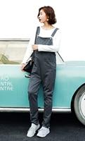 Women S Cotton Overall Maternity Jumpsuit Rompers Baggy Pants Pregnancy Bib Zipper Panties Size M L