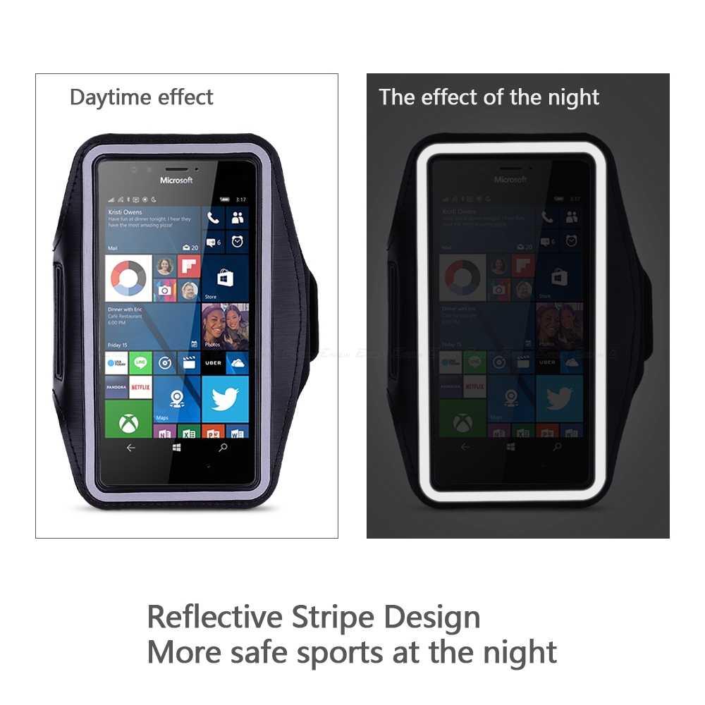 Руку чехол для браслета чехол для Nokia microsoft Lumia X X2 430 435 532 535 540 550 650 640 950 XL для спорта сумка-держатель для телефона