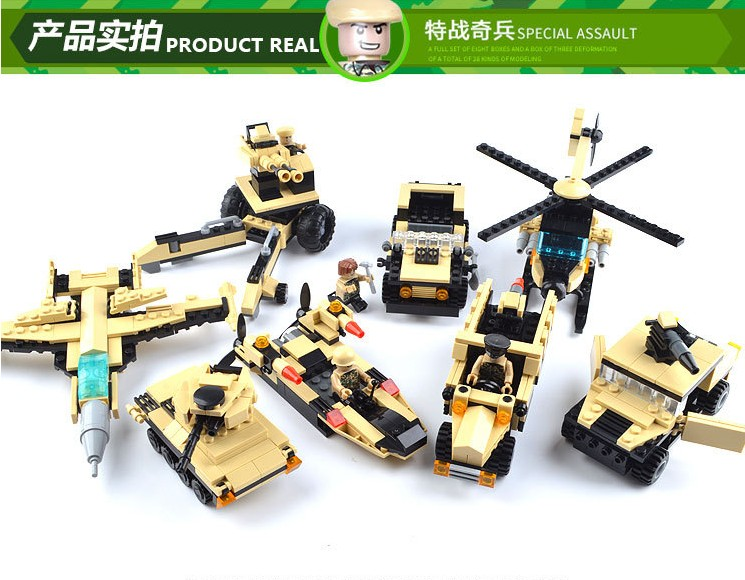 Military Education Building block Toy Missile Vehicle Helicopter Weapon