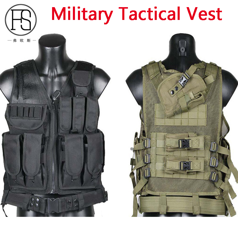 Good Quality Military Combat Vest Men's Tactical Paintball Airsoft Sport Gear War Game Vest Army Outdoor Shooting Hunting Vests