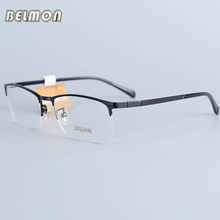 Belmon Eyeglasses Frame Men Computer Optical Prescription Myopia Nerd Clear Lens Eye Glasses Spectacle For Male RS30028
